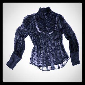 Black sheer elegant BEBE Blouse